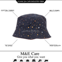 Fashion floral print cheap tie dyed bucket hat