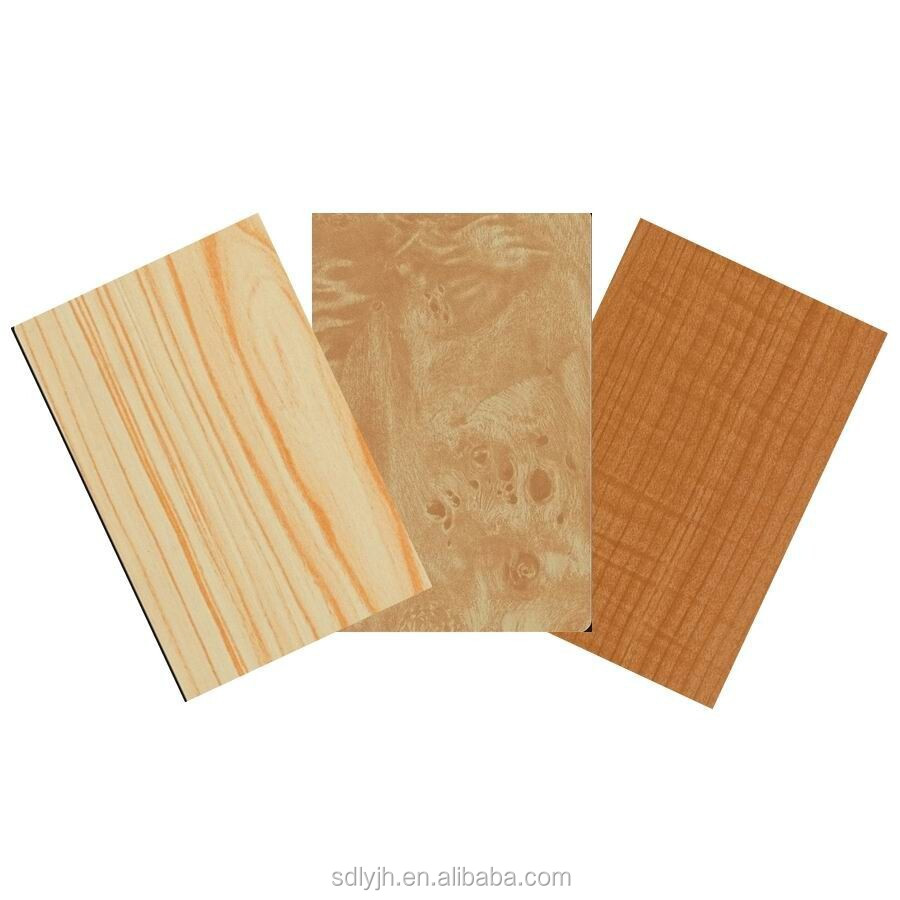 Wood Composite Panel : Wood pattern wall aluminum composite plastic cladding