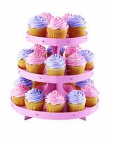3 Tier Crystal Clear Acrylic Round Cake Cupcake Stand Wedding Birthday Display