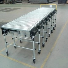Truck loading flexible motorized roller conveyor