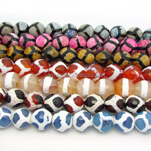 AB0129 Wholesale Faceted Tibetan Dzi Beads,Tibetan Agate Dzi Beads