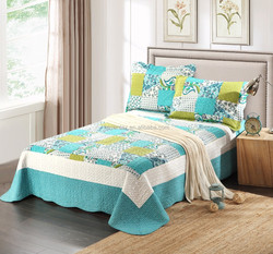 2015 polyester/ cotton new design bed cover