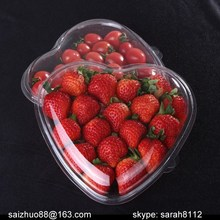 heart shaped plastic fruit disposable fruit container