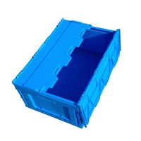 Plastic folding stocked transporting Box in factory's logistics