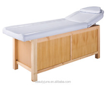 Beauty Salon Furniture Wood Massage Bed Table with A Large Storage/ massage beauty bed/ cosmetic beauty bed