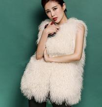 2015 Stylish Top Mongolian lamb fur women wholesale fleece vest fur vest from china