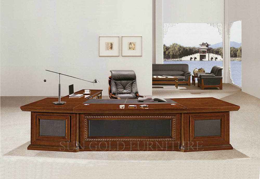 Luxury wooden office table mdf classic office design for Executive office design gallery