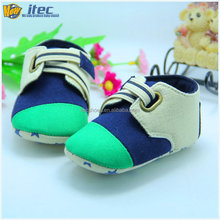 2015 Latest Baby Shoes Elastic Buckle Baby Shoes Navy Green Canvas Baby Shoes