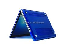 2015 Newest transparent crystal hard plastic laptop cover case for 13.3 macbook pro retina Air Royal blue color