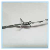 Galvanized 2.0mm x 100m barbed wire length per roll (Factory)