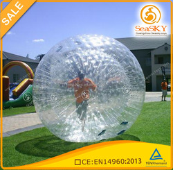 PVC or tpu small zorb ball , inflatable rolling ball , bowling zorb ball