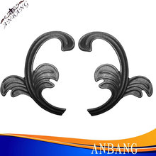 wrought iron elements for gate,decorative Wrought iron leaves for garden fence -4116