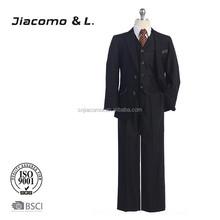 Gentleman style 3 piece sets boy formal suits