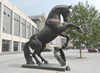 Hot sale large bronze horse jumping statue for urban decoration