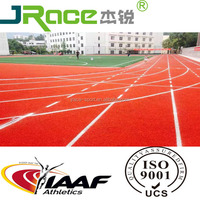 Weather resistance synthetic rubber athletic tracks