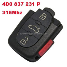 Wholesale Best Price Remote key car key for VW Audi 3+1 buttons remote P model 4D0 837 231 P