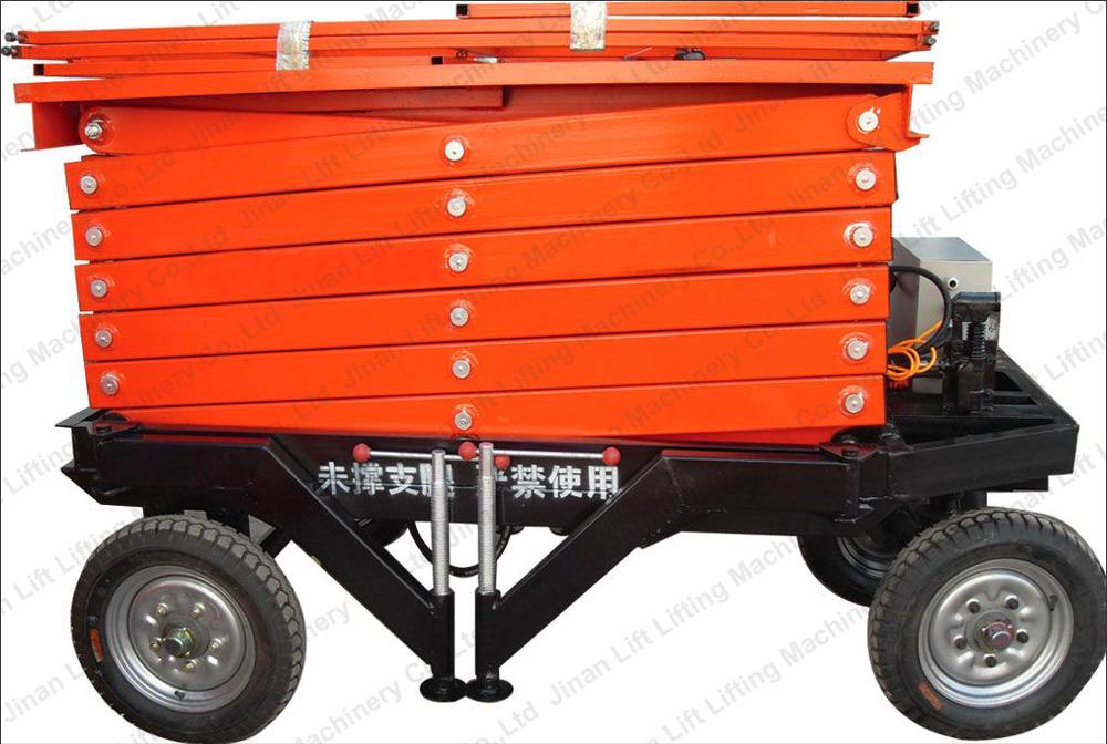 Ergonomic Portable Lifts : Electric portable work platform adjustable hydraulic