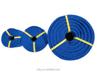 3-strands blue pp/pe ship rope for decoration
