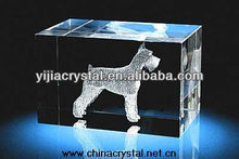 Animal Engraved 3d Crystal Cube Wholesale