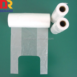 HDPE t-shirt plastic bag on roll clear t-shirt bags