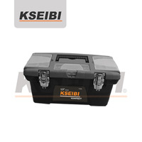 Plastic Tool Box with steel lock 13''-KSEIBI