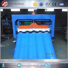 Glavanized Steel Roofing Step Sheets Cold Forming Production Line/Metal Glazing Step Tiles Roller Former Making Machinery