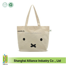 China Manufacture Eco Friendly 10OZ Organic Cotton Canvas Tote Shopping Bag With Customized Printing