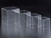 fashion clear large acrylic display cube