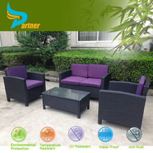 Garden Wicker Furniture Dining Sets K.D Structure Wicker Rattan Sofa Outdoor Furniture