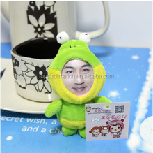 Funny 3D Printed Face Doll - 8 to 10 cm Frog Key Chain/Mobile Chain