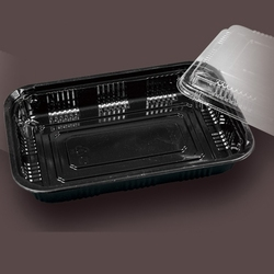 2015 hot sales high quality disposable plastic sushi container with lid