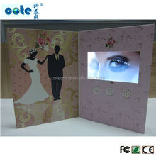 Luxury paper craft with lcd display wedding invitations,New design wholesale wedding invitation card