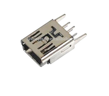 Mini USB 5Pin Connector DIP connector manufacture