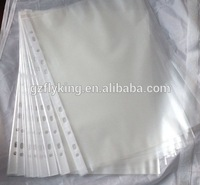 PP 11 Hole Clear Punch Sheet Protector,plastic hole protector