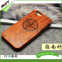 Wholesale mobile phone black walnut shell case wood case for iphone 5