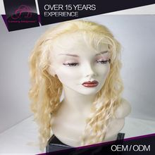 Superior Quality 100% Natural Human Hair Customized Color 100% Tangle Free Full Lace Wig Lace Should Be German Lace