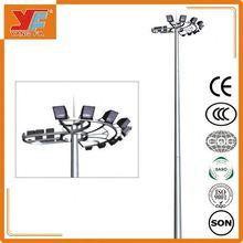 galvanización en caliente y galvanizado resistente para los postes de iluminación