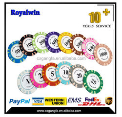 custom printed colorful ABS,PS poker chip set