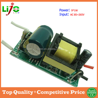 9W isolated 300ma constant current led driver for high quality led light from china factory