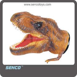 2015 new soft rubber dinosaur hand puppet toys
