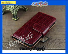 2013 Newest PU leather credit card slot case for iphone 4