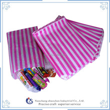 Pink and white stripe paper bag/ candy paper sweet bag