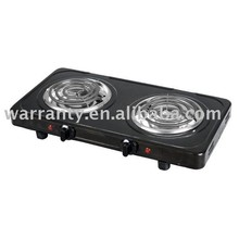cast iron cooking hot plate with double burner