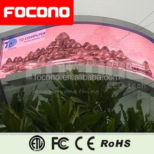 Big Arc-shaped P16 outdoor commercial led display gorgeous image synchronization control