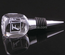 3D Laser Engraving Crystal Wine Stopper with logo