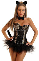 hot selling sexy leopard corset for women hot women sexy animal costumes