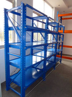 Metal fabrication laminate rack with weld parts and plywood for argentine importer and warehouses