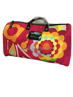 Polyseter travel duffle bag with all over printing