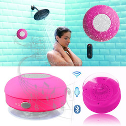 2015 latest bluetooth waterproof speaker with suction cup,It can suck on glass/mobile phones/blackboard/PC etc