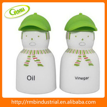 oil and vinegar with silicone cap,green decal